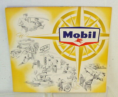 Original 1970 Mobil Oil Company Give-Away Customers Scenic Calendar