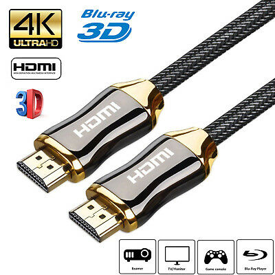 4k UltraHD V2.0 HD High Speed HDMI Cable 2160p 3D 2m/3m/5m/10m/15m Long Lead