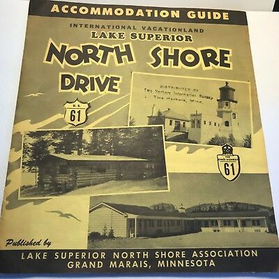 Vtg 1950's Minnesota Lake Superior North Shore U.S. 61 HiWay Resort Directory