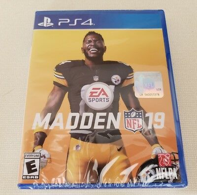 Madden NFL 19 (PlayStation 4, Ps4) Brand New factory sealed..
