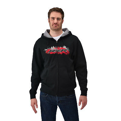 Polaris Men's RZR Full Zip Hoodie in Black-Size LG-Genuine Polaris-Brand New