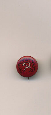 US Communist Vintage 1920s CPUSA Workers Party of America Litho Pin