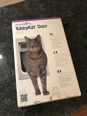 Perfect Pet Tubby Kat Cat Door with 4 Way Lock And LEXAN Flap - NEW see listing