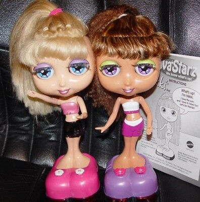 lg DIVA STARZ   SUMMER + NIKKI INTERACTIVE DOLLS 1999  they work +instructions !