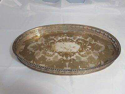 An Elegant Chased Silver Plated Gallery Tray By Viners Of Sheffield