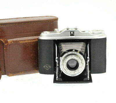 Vintage AGFA Isolette I 1 Folding Bellows Camera  Film Photography - with Case