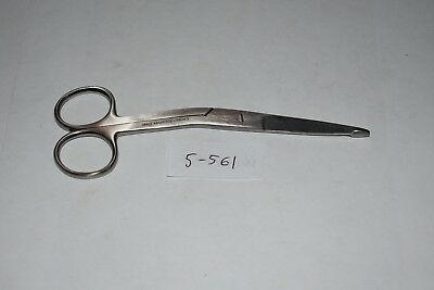 """5-561 1 Pc Knowles Bandage Scissors 5.5"""" Angled On Side Serrated"""