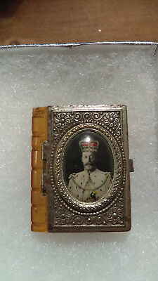 King George V  1900's ~ ROYAL FAMILY MINIATURE PHOTO BOOK Excellent condition