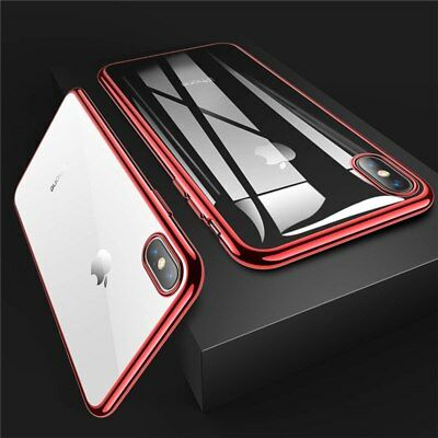 Case For iPhone X Luxury Ultra Slim Shockproof Silicone Clear Cover Transparent