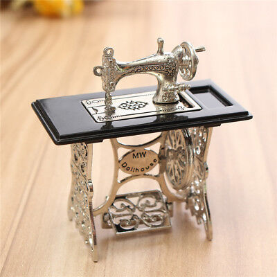 miniatureToy Sewing Machine Vintage Metal Hand Crank Childs Antique Gifts Doll