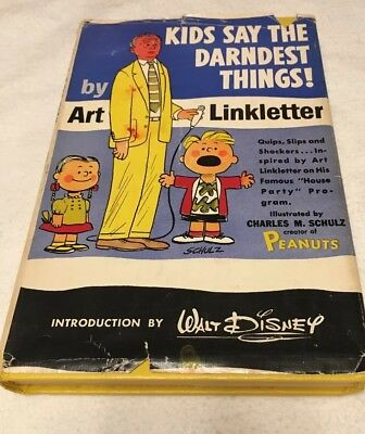 Kids Say The Darndest Things! Art Linkletter 1957 -Book-Prentice-Hall