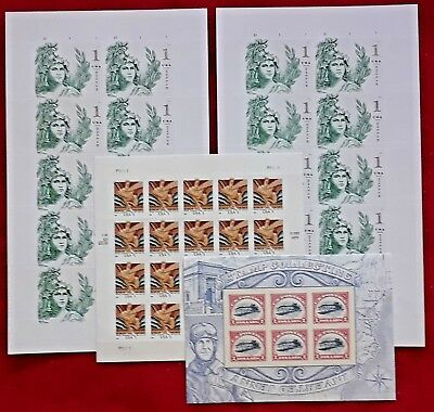 Combo: Mint 2x10 Statue of Freedom & 1x20 WISDOM & 1x6 INVERTED JENNY US Stamps