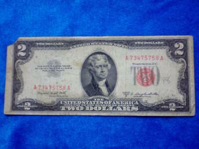 1953B U.S. $2.00 Two Dollar Red Seal Note   -  Take A Look!    (187M)