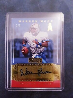 2016 Donruss Signature Warren Moon 2/5 Auto