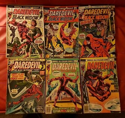 Marvel - lot of 6 Daredevil comics #97 #99 #104 #116 #134 #140 from Good to VG
