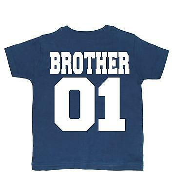 Edward Sinclair Brother Set 'Brother 01 and Brother 02' Set Of Two Navy T-Shirts