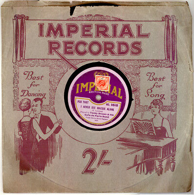 """TEDDY BROWN & HIS CAFE DE PARIS BAND I never see Maggie alone """"Golden 20'"""" S9915"""