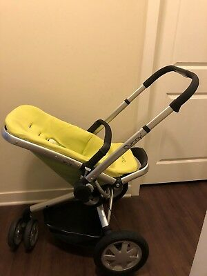Quinny Buzz Reversible Seat Baby Stroller Green Yellow