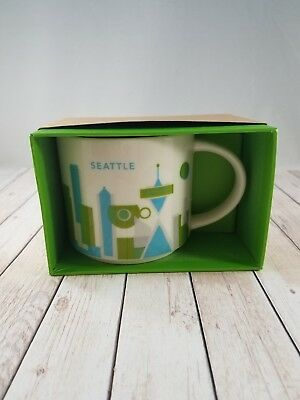 """SEATTLE Starbucks """"You Are Here"""" Collective Coffee Mug Cup New with Box"""