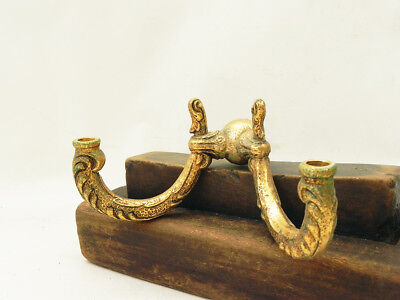Vintage Ornate Brass Double-Arm Lamp Chandelier Wall Sconce Parts Repurpose