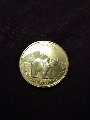 2011 gold gilded 1 oz Canadian Silver Grizzly Bear Wildlife Series Coin