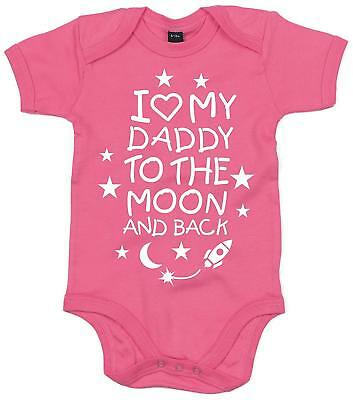 Edward Sinclair Love My Daddy to The Moon and Back' Baby Bodysuit - Father's Day