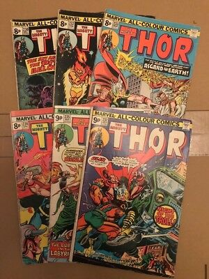 Marvel - lot of 6 Mighty Thor comics #230 #232 #233 #234 #235 #237 VG