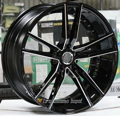 20 Inch Velocity 20 Black Milled 4 Wheels 4 Tires 5X4.5 5X114.3 Fits Gs300 Gs350