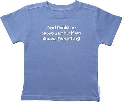 Edward Sinclair 'Dad Thinks he Knows a lot but Mum Knows Everything' Denim T-Shi