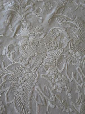 Antique Silk Hand Embroidered Chinese Piano Shawl- Projects