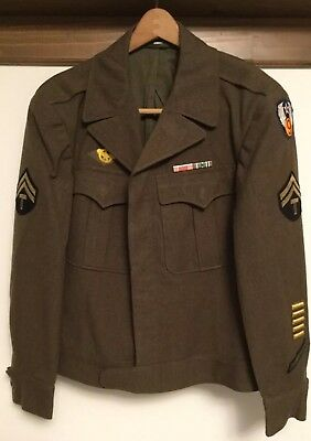 Original WWII WW2 US Air Force 9th Uniform Jacket Tech Sergeant Size 38R USAF