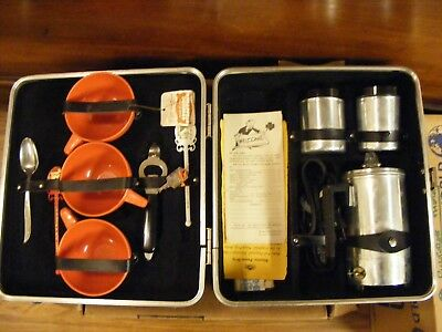 Vintage Empire 3 Cup Electric Aluminum Coffee Percolator Kit and Case