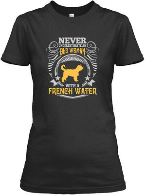 Old Woman With A French Water T S Gildan Women's Tee T-Shirt