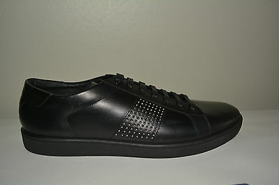 a660c78a72c2 Nib Saint Laurent Ysl  610 Mens Studded Leather Sneakers Eu 46.5 Us 13.5  Italy