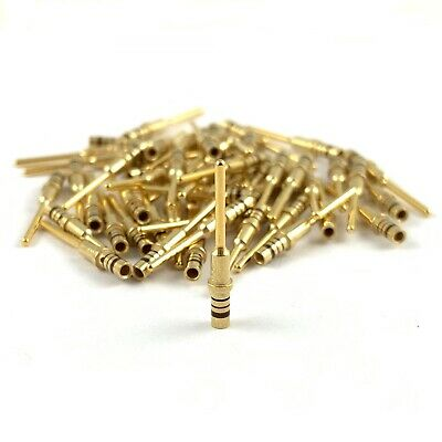 50x M39029/4-110 Milspec 24-20 AWG Gold Solid Pin Male Contact Terminal