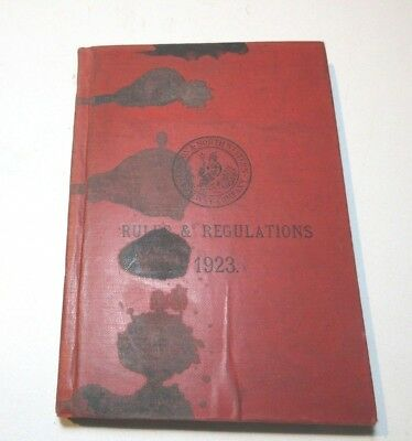 Vintage London And North Western Railway Company Rules And Regulations Book 1923