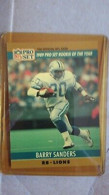 1989 Nfl Pro Set Rookie Of The Year Barry Sanders The Official Nfl Card 1
