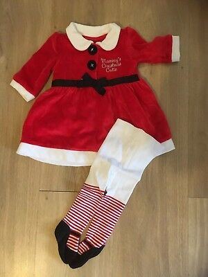 Christmas Dress 0-3 Months Girls