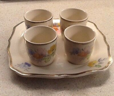 Arthur Wood X4 Egg Cups And Plate