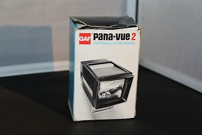 GAF Pana-Vue2  LIGHTED 2 x 2 Lighted 35mm Film Slide Viewer Vintage