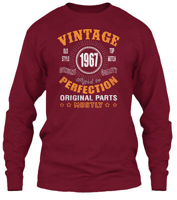 1967 Vintage Aged Perfection Gildan Long Sleeve Tee T-Shirt