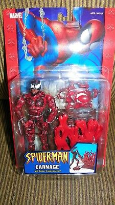 """ToyBiz Spider-Man 2004 Classics CARNAGE Spider Trapping 6"""" Action Figure Marvel"""