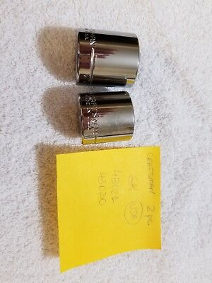 Set of 2 NEW CRAFTSMAN SOCKET   6 POINT made in USA GK SERIES 43021 43020