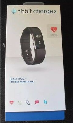 Fitbit Charge 2 Large Size Black - New & Sealed