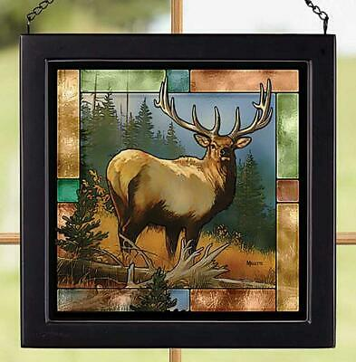 Royal Elk  Stained Glass Art by Rosemary Millette