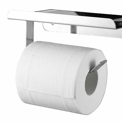 Wall Mount Toilet Paper Holder, Sus304 Stainless Steel Bathroom Tissue Roll With