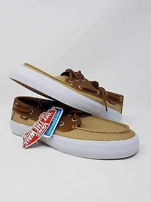 VANS CHAUFFEUR SF C l Khaki Chambray Athletic Skate Casual Men s Size 7 New  Wob d4925938c