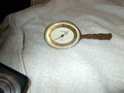 swiza alarm clock 7 jewels working from 1950-60s brass with wind up and time set