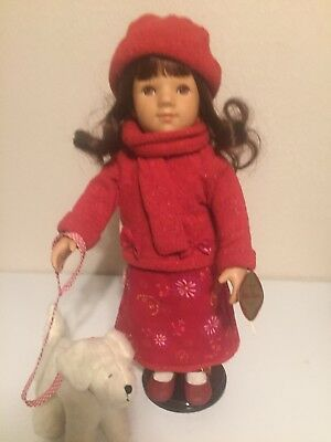 """16""""Gotz Puppe, Doll Made in Germany, Long Brown Hair And Eyes Retired Early2000"""