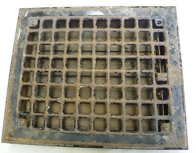 Antique Cast Iron Small Floor Register/Heating Grate